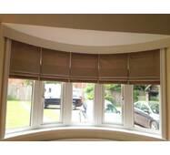 Римская штора однотонная на широкое окно система классик