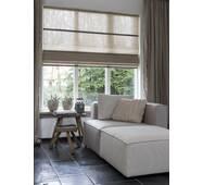 Римская штора лен для ванной, спальной, кухни, система классик