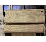 Готовая римская штора бежевая рогожка 58*127 см
