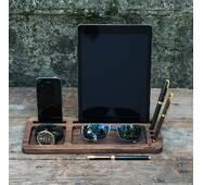 Деревянная подставка для планшета и смартфона
