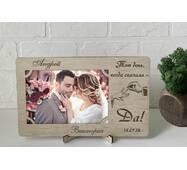 Рамка для фото з дерева з гравіюванням Wedding2