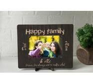 Рамка для фото из дерева с гравировкой Family2