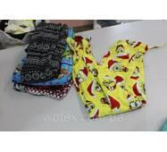 Секонд хенд, Пижамные штаны цветные, флис взр/дет 1с зима/демисесон Канада