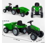 Трактор педальный с прицепом 07-316 GREEN