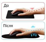 Килимок для ведмедика Goobay Ergonomic Mousepad Black (77604)