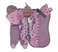 Набор одежды для новорожденного в роддом Lari Звездопад 56 розовый