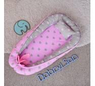 Гніздечко кокон позиционер для дівчинки Добрий сон BabyNest 52х85 см
