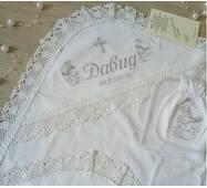 Крыжма для хрещення Бетис Хрестильний дар 75х80 см Белая