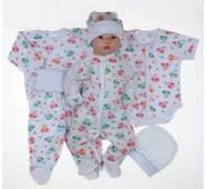 Набор одежды для новорожденного в роддом Lari 6 предметов 56 цветной