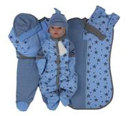 Набор одежды для новорожденного в роддом Lari Звездопад 56 голубой