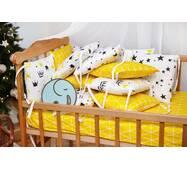 Бортики-защита в кроватку из сатина Верона - 2 Короны Dobryi son