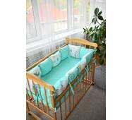 Защита в кроватку Dobryi son Облачко 12 шт 03-05-01 мятный