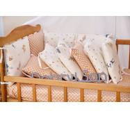 Бортики-защита в кроватку из сатина Верона - 2 Белочки Dobryi son