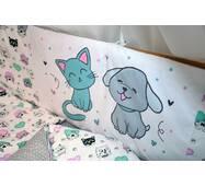 Защита-бортики в кроватку для новорожденных Леко Dobryi son Белый