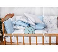 Бортики-защита в кроватку из сатина Верона - 2 Голубой мишка Dobryi son