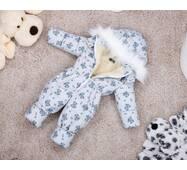 Комбинезон детский зимний на овчине Natalie Look Boy 140-146 см светло-серый
