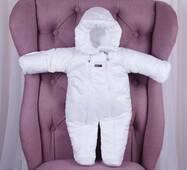 Зимний комбинезон для малышей Brilliantbaby белый