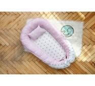 Кокон-гніздечко для новонароджених Dobryi son Зірочка з подушкою 5-02