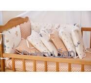 Бортики-защита в кроватку из сатина Верона Белочка Dobryi son