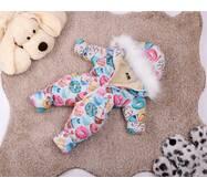 Комбинезон детский зимний на овчине Natalie Look Пончик 128-134 см цветной