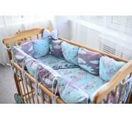 Защита в кроватку Dobryi son Облачко 12 шт 03-05-01 фиолетовый