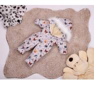 Комбинезон детский зимний на овчине Natalie Look Собачки 128-134 см бежевый