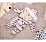 Комбинезон детский зимний на овчине Natalie Look LV 110-116 см бежевый