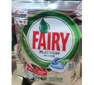 Капсулы для посудомойки  Fairy platinum 32 шт Бельгия