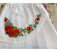 Детская юбка с вышивкой белая р.130