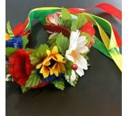 Віночок український ''Польові квіти'' (великі квіти)