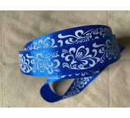 Стрічка  атласна  синього  кольору'' Завитої'' 2.5см