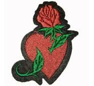 Термоаплікація клейова   ''Троянда  і  серце''
