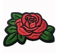 Термоаплікація клейова   ''Троянда  1 бутон червона'' 5*5см