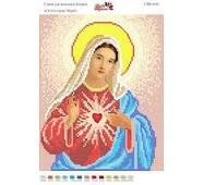 Схема  для вишивки бісером  '' Святе серце Марії '' А4