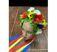 """Віночок український ''Польові квіти'' (великі квіти) """"корона"""""""