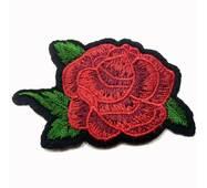 Термоаплікація клейова   ''Троянда  1 бутон червона'' 7*5см