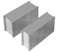 Стіновий бетонний блок СБ-ПР 20