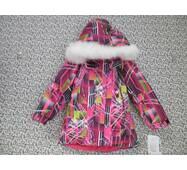 Термо куртка зима ТМ Garden Baby 128, Малиновий