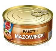 Паштет Mazowiecki 300г свинина EvraMeat ключ же/бы (1/12)