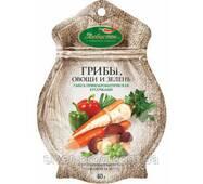 """Пікантна суміш """"Гриби,овочі,зелень"""" шматочками """"Любисток"""" 40г (1/15)"""