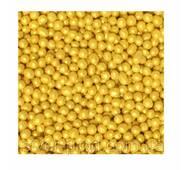 Посипка кругла золота d-2 мм 3г (1*50/150) стік