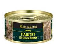 Паштет Meat Selected 240г Печеночный Классический (свинина) же/бы (1/27) &