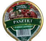 "Паштет 130г с курицей и помидорами ""Fammilijne przysmaki"" стак. (1/12)"