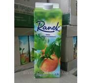 """Сік 1,9л яблучно-персиковий з м'якоттю """"Ranek"""""""