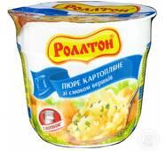"""Пюре картофельное стакан 40г Сливки """"Роллтон"""" (1/24)"""