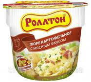 """Пюре картофельное стакан 40г Мясо """"Роллтон"""" (1/24)"""