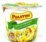 """Пюре картофельное стакан 40г Курка """"Роллтон"""" (1/24)"""