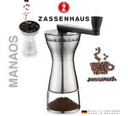 Ручна кофемолка Zassenhaus Manaos з керамічними жорнами і регулюванням рівня помелу