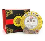 Чай Шу Пуэр Мэнхай Да Золотые иглы и белый лотос, 1401, 2014 года, 357 г