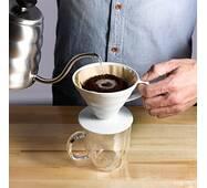 Пуровер Hario V60 01    Белый   для заваривания фильтр кофе